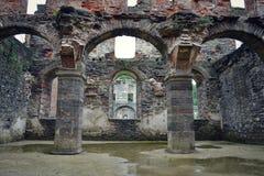 Villers修道院, Villers laVille,瓦隆,比利时废墟  免版税库存图片