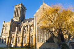 Villers-sur-mer Cathedral, France. The Saint-Martin Cathedral at Villers-sur-Mer, Normandy, France Stock Photos