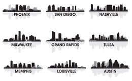 Villes américaines Photographie stock libre de droits
