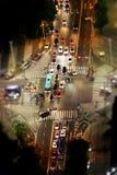Villes craintives Images stock
