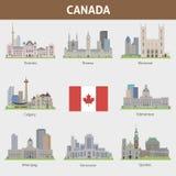 Villes dans le Canada illustration libre de droits