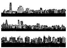 Villes de panorama Images libres de droits