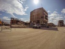 Villes de ruines après le tremblement de terre puissant, Equateur Images libres de droits