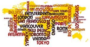 Villes du monde illustration de vecteur