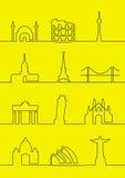 Villes du monde Photos stock