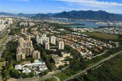 Villes et beaux voisinages, Barra da Tijuca en Rio de Janeiro Brazil photos stock