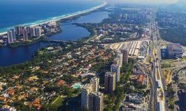 Villes et beaux voisinages, Barra da Tijuca en Rio de Janeiro Brazil images stock