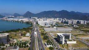 Villes et beaux voisinages, Barra da Tijuca en Rio de Janeiro Brazil photographie stock
