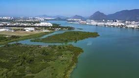 Villes et beaux voisinages, Barra da Tijuca en Rio de Janeiro Brazil images libres de droits