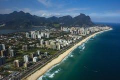 Villes et beaux voisinages, Barra da Tijuca en Rio de Janeiro Brazil photos libres de droits