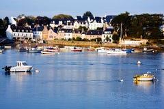 Villes et villages de Brittany : Marine de Sainte Photographie stock libre de droits