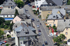 Villes le long de la Moselle revier Photo libre de droits