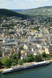 Villes le long de la Moselle revier images libres de droits