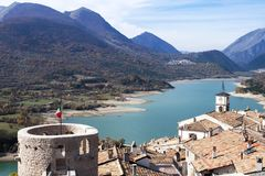 Villetta Barrea, Abruzzo, Italia Fotografia Stock