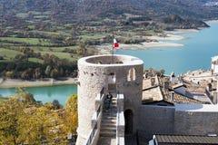 Villetta Barrea, Abruzzo, Italien Arkivfoton
