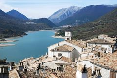 Villetta Barrea, Abruzzo, Italien Royaltyfri Bild