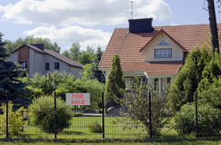 Villge home for sale Stock Image