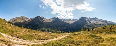Villgratner Berge全景 图库摄影