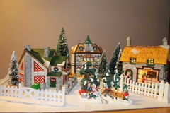 Villiage Χριστουγέννων Στοκ Εικόνες