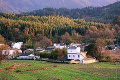 Villiage in de herfst Stock Afbeeldingen