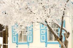 Villiage do inverno Fotografia de Stock Royalty Free