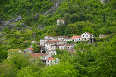 Villiage Godinje на Черногории Стоковые Фотографии RF