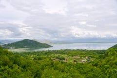 Villiage at Montenegro. Small villiage on the coast of Skadar Lake in Montenegro Royalty Free Stock Image