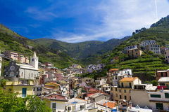 Villiage of Riomaggiore, Cinque Terre in Italy Royalty Free Stock Photography