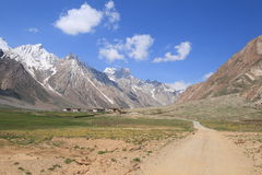 The villige in Himalayas Mountains in Ladakh Royalty Free Stock Photo