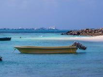 Villingili e Malé, Maldivas fotografia de stock