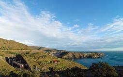 Villlage na costa francesa de catalonia Fotografia de Stock