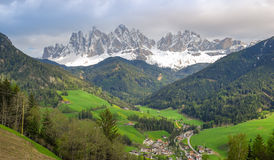 Villnösser Tal / Val di Funes in spring Royalty Free Stock Image