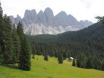 Villnösser Alm, взгляд к Geislerspitzen, южный Тироль, Италия, Европа стоковые фото