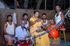 Villu paattu en folkkonst av södra Indien Arkivbild