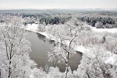 Vilna debajo de la nieve Fotos de archivo libres de regalías