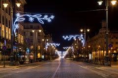 Vilna en tiempo de la Navidad Foto de archivo libre de regalías