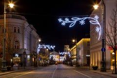 Vilna en tiempo de la Navidad Fotos de archivo