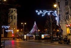 Vilna en tiempo de la Navidad Foto de archivo