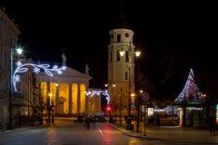 Vilna en tiempo de la Navidad Imagen de archivo