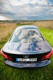 VILNA, LITUANIA - 10 DE JULIO DE 2012: Lexus Car de lujo foco hacia números más inferiores y medios Foto de archivo libre de regalías