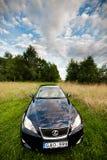 VILNA, LITUANIA - 10 DE JULIO DE 2012: Lexus Car de lujo foco hacia números más inferiores y medios Imágenes de archivo libres de regalías