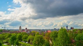 Vilna, Lituania, time lapse panorámico almacen de video