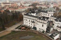 Vilnius één schuine standverschuiving royalty-vrije stock fotografie