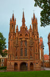 vilnius εκκλησιών s ST της Anne Στοκ φωτογραφία με δικαίωμα ελεύθερης χρήσης