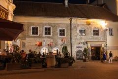 Vilnius κατά τη διάρκεια της θερινής νύχτας Στοκ φωτογραφίες με δικαίωμα ελεύθερης χρήσης