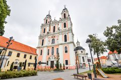 Vilnius, Λιθουανία, όμορφη παλαιά εκκλησία του ST Catherine, Στοκ εικόνα με δικαίωμα ελεύθερης χρήσης