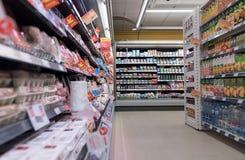 VILNIUS, ΛΙΘΟΥΑΝΙΑ - 10 ΝΟΕΜΒΡΊΟΥ 2016: Λεωφόρος καταστημάτων μεγίστων στη Λιθουανία Ένα από τα δημοφιλέστερα καταστήματα στη Λιθ Στοκ φωτογραφίες με δικαίωμα ελεύθερης χρήσης