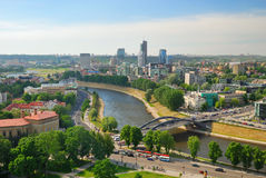 vilnius οριζόντων της Λιθουανί&alp στοκ φωτογραφία