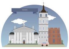 vilnius της Λιθουανίας Στοκ Εικόνα