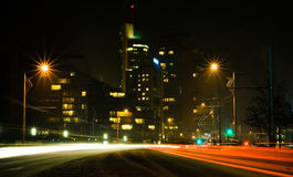 Vilnius τη νύχτα Στοκ Εικόνες